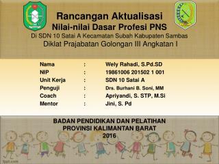 Ppt Rancangan Aktualisasi Sekolah Dasar Powerpoint Presentation Free Download Id 7408956