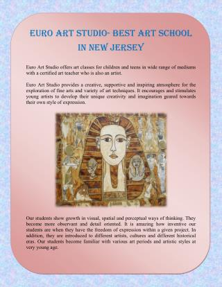 Euro Art Studio- Best art school in New Jersey