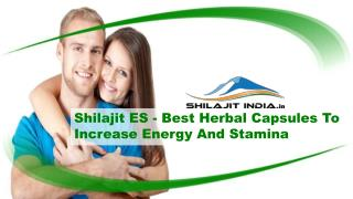 Shilajit ES - Best Herbal Capsules To Increase Energy And Stamina