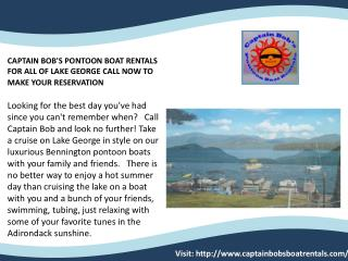 CAPTAIN BOB'S PONTOON BOAT RENTAL