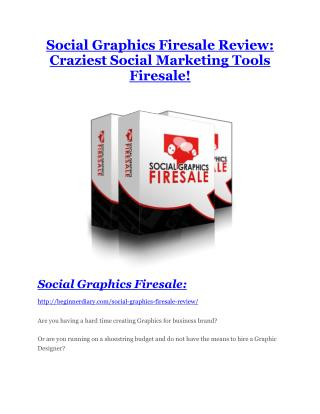 Social Graphics Firesale review - EXCLUSIVE bonus of Social Graphics Firesale