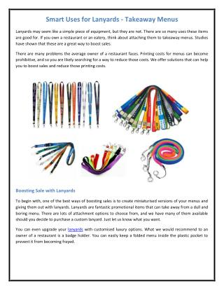 Smart Uses for Lanyards - Takeaway Menus.pdf