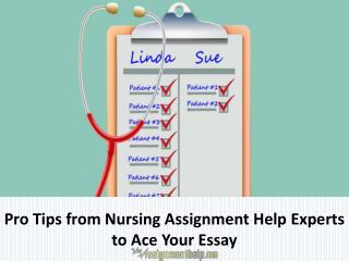 Pro Tips from Nursing Assignment Help Experts to Ace Your Essay