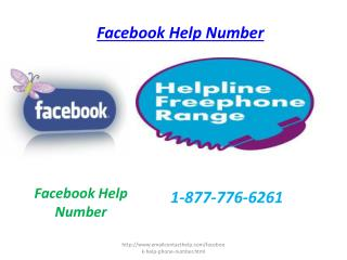 Facebook Help Number 1-877-776-6261 A galloping approach