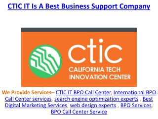 CTIC IT Is A Best Business Support Company