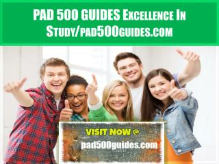 PAD 500 GUIDES Excellence In Study/pad500guides.com