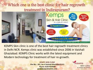 Which one is the best clinic for #hair regrowth #treatment in Indirapuram