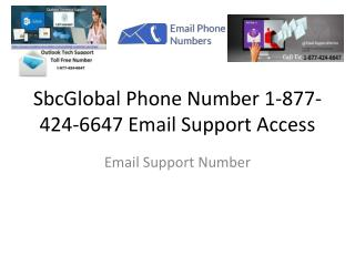 SbcGlobal Phone Number 1-877-424-6647 Email Support Access