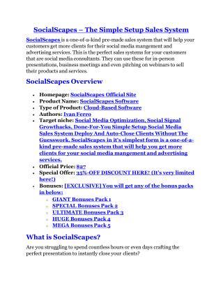 SocialScapes Review-(GIANT) bonus & discount