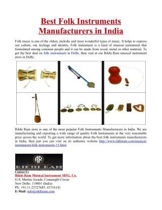Best Folk Instruments Manufacturers in India