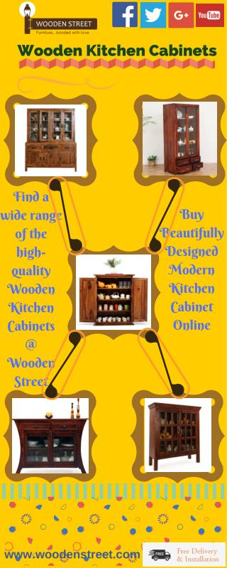 Kitchen Cabinet : Buy Wooden Kitchen Cabinets Online India