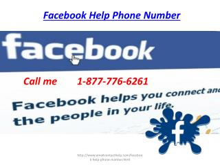 Looking support for Facebook Help Phone Number call 1-877-776-6261
