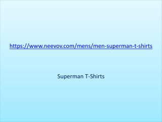 Online Superman t shirts