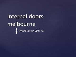 Glass internal doors Melbourne