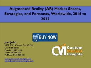 Global Augmented Reality (AR) Market 2016: are anticipated to reach $7 trillion by 2027