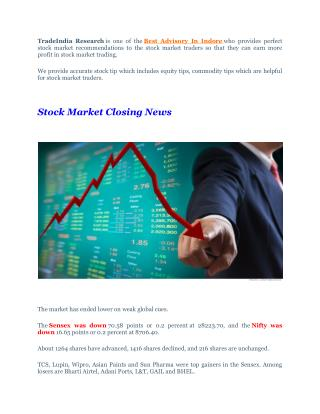 Full Target Achieved Stock Cash Calls With Stock Market Closing News - 27th September