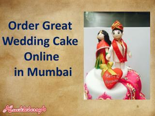 Order Great Wedding Cake Online in Mumbai