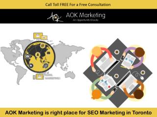 AOK Marketing is right place for SEO Marketing in Toronto