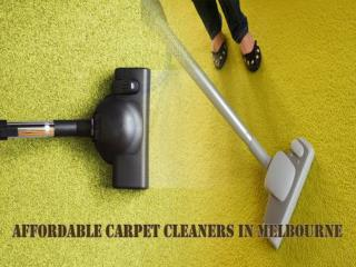 Affordable Carpet Cleaners in Melbourne