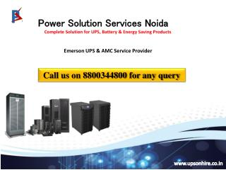 Fed up of power cuts? Install Emerson UPS in your premises Contact 8800344800