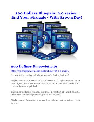 The 200 Dollar Blueprint 2.0 review - The 200 Dollar Blueprint 2.0 top notch features