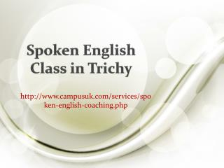 Spoken English Class in Trichy
