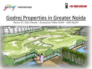 Godrej Luxurious Villas in Greater Noida