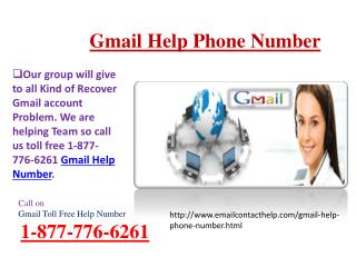 Call on 1-877-776-6261 Gmail Phone number for USA (TOLLFREE)