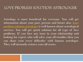 Love Problem Solution Astrologer - Jay Gour