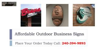 Affordable Outdoor Business Signs