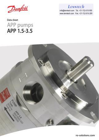 APP Pumps for Reverse Osmosis | High Pressure Pumps | Danfoss