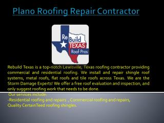 Lewisville Leaking Roof Repair