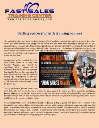 Getting successful with training courses