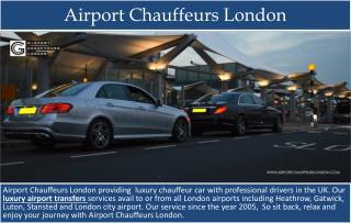 Luxury Airport Transfers London