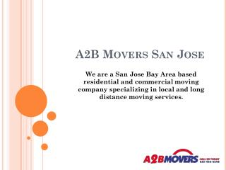 Bay Area Movers - A2B Movers San Jose