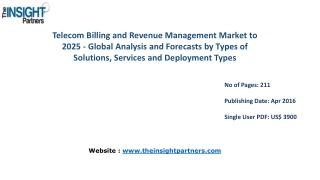 The Insight Partners - Telecom Billing and Revenue Management Market is expected to grow at a CAGR of 10.7% by 2025