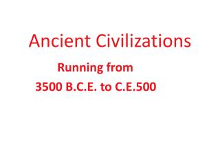 Ancient Civilizations