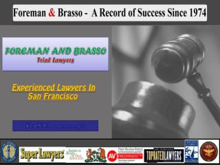 Injury Lawyers San Francisco
