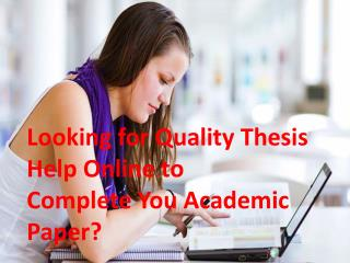 Help with Thesis Writing Services in UK, USA & AUS by UK Experts