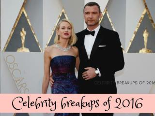 Celebrity breakups of 2016