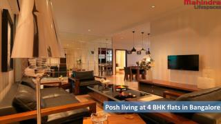 Posh living at 4 BHK flats in Bangalore