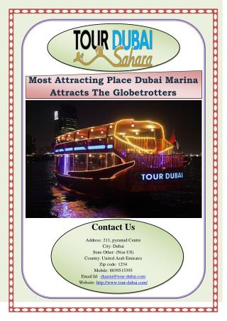 Most Attracting Place Dubai Marina Attracts The Globetrotters
