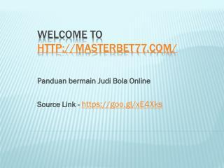 Panduan bermain Judi Bola Online