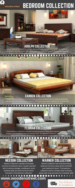 Bedroom Collection – Highlight your Bedroom with royal Bedroom Collection online available at Wooden Street