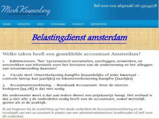Belastingconsulent amsterdam
