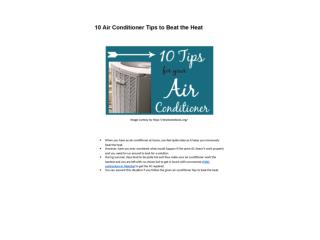 10 Air Conditioner Tips to Beat the Heat