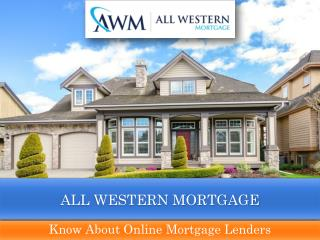 Mortgage Lending Company | All Western Mortgage