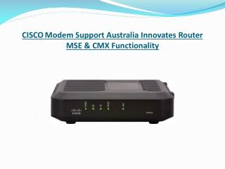 KNow functionality of Cisco router mse & cmx functionality