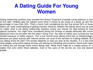 Websites for dating advice