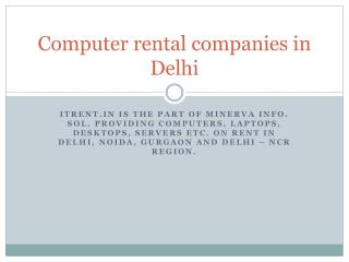 Best Computer rental companies in Delhi